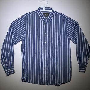 Eddie Bauer Button Down Stripe Long Sleeve Large